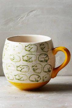 Cat Study Mug by Leah Goren