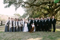 CHARLESTON WEDDINGS - Bridal Party at Boone Hall Plantation Winter Wedding.  Photographer: Jennings King Photography  /  Planning & Design: Fox Events