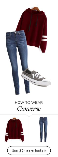 """"""""""" by dancer0202 on Polyvore featuring Levi's and Converse"""