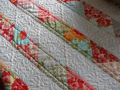 My latest quilt project via a tutorial from the Moda Bake Shop