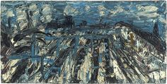 Leon Kossoff-Willesden Junction, Summer Mystery of Appearance-Haunch of Venison Museum Of Modern Art, Art Museum, Leon Kossoff, Louisiana Museum, Walter Gropius, Venice Biennale, English Artists, Winter Trees, Flower Images