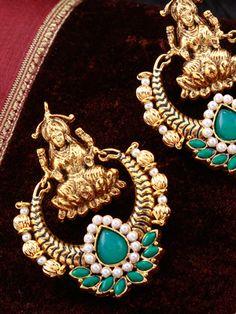 Earring with Antique Mahalakshmi Design