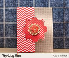 Cathy Weber: Empty Nest Crafter: Top Dog Dies Vintage Frame Die Swing Card - 8/11/14