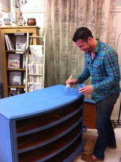 Greek Blue for a chest painted by Justin at Maison Decor