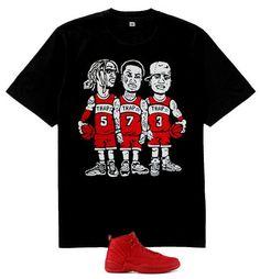 f3bcdb271a58d8 Atlanta Rap stars basketball team shirt match air Jordan 12 Retro Gym Red -  Rap Tshirts
