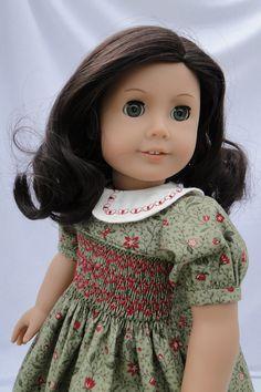 Hand Smocked Christmas dress for the American girl doll. $38.00, via Etsy.
