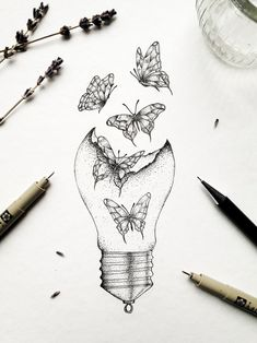 Art Drawings Sketches Simple, Pencil Art Drawings, Tattoo Drawings, Cool Drawings, Tattoo Sketches, Creative Sketches, Cute Tattoos, Body Art Tattoos, Small Tattoos