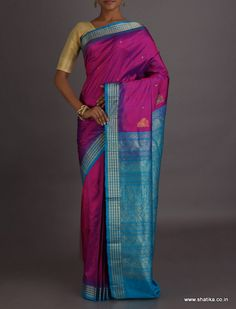 Chetna Vibrant Pink And Blue Intricate #SambalpuriSilkSaree