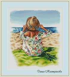 ВЫШИТО: дизайнерские схемы Cross Stitch Sea, Cross Stitch Flowers, Cross Stitch Charts, Counted Cross Stitch Patterns, Cross Stitch Embroidery, Embroidery Patterns, Cute Pattern, Pattern Code, Chart Design