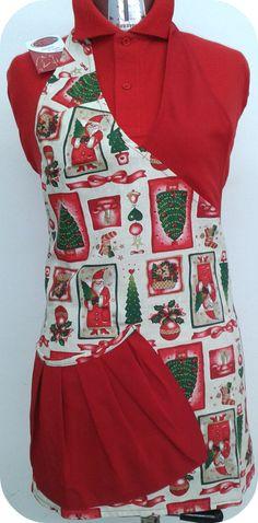 Mod. Bice fantasia natalizia/rosso con tascone allaciato in vita. #panifici #pasticcerie #alimentari #regalo #Natale #abbigliamentoprofessionale #Freelineprofessional #cakedesign