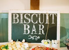 Biscuits with all the fixin's . Sweet Georgia Wedding by Melissa Schollaert « Southern Weddings Magazine Wedding Signage, Wedding Reception, Our Wedding, Brunch Wedding, Wedding Breakfast, Wedding Bells, Dream Wedding, Wedding Ideas, Southern Weddings