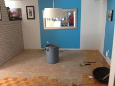 Dining room during the make-over. It looks better already!