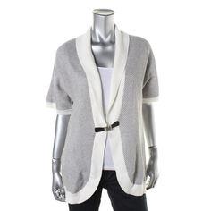Calvin Klein Womens Textured Shawl Collar Cardigan Sweater