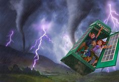 """Here's a cover I did for """"The Maloneys' Magical Weatherbox"""" by Nigel Quinlan. Book Cover Design, Book Design, Time Raiders, Picture Writing Prompts, Devian Art, Dreamworks Animation, Visual Development, Conceptual Art, Various Artists"""
