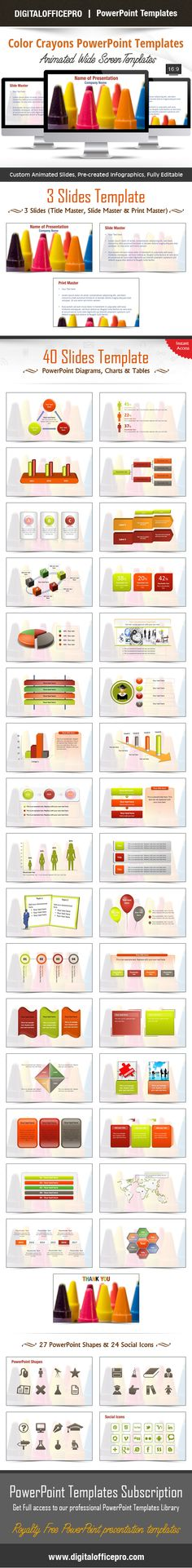 Impress and engage your audience with colorful crayons powerpoint color crayons powerpoint template backgrounds toneelgroepblik Image collections