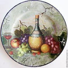 Купить Набор тарелок Тоскана (2шт.) - разноцветный, комплект тарелок, тоскана, прованс, Декупаж