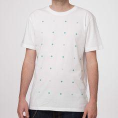 Ethical T Shirts – Dotties T-Shirt white – a unique product by THOKKTHOKK on DaWanda