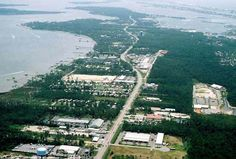 Orange Beach aerial image of parts of the island and both gulf front and inland water-front properties.  Visit http://www.condoinvestment.com/orange-beach-al-subdivisions.php for real estate availability info.