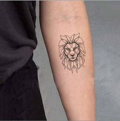 SanerLian Set of 5 Waterproof Temporary Fake Tattoo Stickers Grey Lion Vintage Cool Fake Tattoos, Mini Tattoos, Forearm Tattoos, Small Tattoos, Sleeve Tattoos, Tattoos Meaning Strength, Lion Tattoo Meaning, Tattoos With Meaning, Simple Lion Tattoo