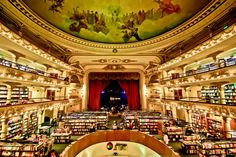 Amazing Bookstores From Around The World: Libreria El Ateneo in Buenos Aires, Argentina Libreria El Ateneo, Word On The Water, Argentine Buenos Aires, City Lights Bookstore, Transformers, Home Libraries, World's Most Beautiful, Library Books, Grand Library