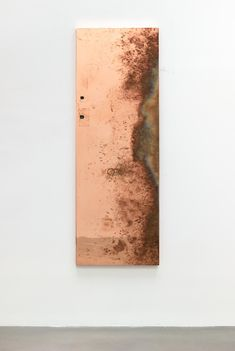 Walead Beshty: Reception 4 2014 polished copper table top and powder-coated steel 31 x x inches Copper Top Table, International Artist, New Shows, Exhibitions, Contemporary Art, Sculpture, September 2014, Gallery, Powder