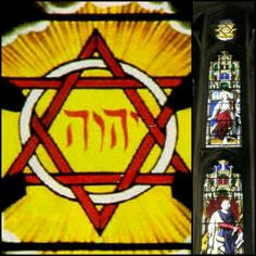 Winchester Cathedral England stained glass #Tetragrammaton #Jehovah #Yahweh #Godsname #DivineName #Bible