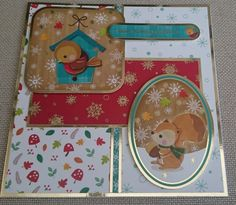 Handmade 7 x 7 Christmas Card by BavsCrafts on Etsy
