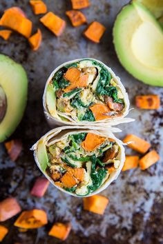 Roasted Veggie and Avocado Breakfast Burritos with sweet potato and zucchini - these healthy breakfast burritos are packed with nutrients. Healthy Vegetarian Meal Plan, Vegetarian Breakfast, Vegetarian Recipes, Healthy Recipes, Vegetarian Ramen, Health Breakfast, Crockpot Recipes, Easy Recipes, Healthy School Lunches