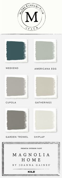 Find inspiration in the market collection colors from the Magnolia Home by Joanna GainesTM paint collection. This classic neutral color palette is full of gorgeous shades like Americana Egg, Garden Trowel, and Shiplap. How will you use them in your home?