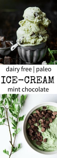 Dairy-Free Paleo Mint Chocolate Ice Cream | Paleo Gluten Free Eats
