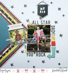 There are lots of fabulous layouts and this one post. Check them out. Paper Issues: Roll the Dice