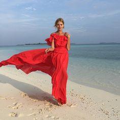 Lena Perminova @lenaperminova Instagram #maldives