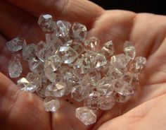 10 Medium Sized Drilled Herkimer Diamond by AscensionCrystals, $12.99