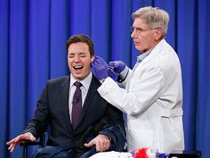 Harrison Ford Pierces Jimmy Fallon's Ear on Late Night: Watch the Hilarious Video