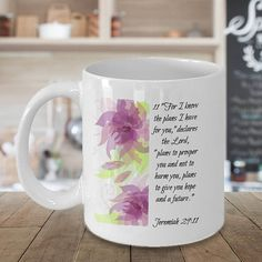Jeremiah Jeremiah 29 Jeremiah 29:11 Motivational Mugs