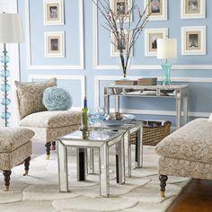 Hayworth Mirror & Vanity - Silver