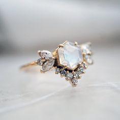 Lady Victorian ChicGift Crystal Rhinestone Butterfly Black Eye Adjustable Ring
