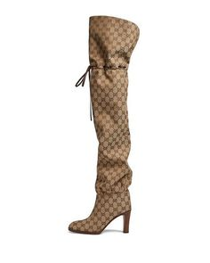 e87fe25ef0d1 Gucci Lisa 95mm Over The Knee GG Fabric Boot