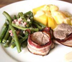Rezept Schweinefilet im Speckmantel mit Bohnen und Kartoffeln von Seehase1 - Rezept der Kategorie Hauptgerichte mit Fleisch