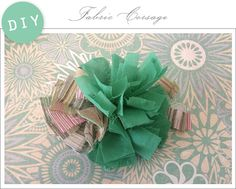 DIY: Fabric Corsage - Home - Creature Comforts - daily inspiration, style, diy projects + freebies