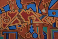 KORZH Taras, city, 2015, Acrylic on canvas, 100 x 75