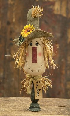 Jackson Spindle Scarecrow   R and K Country Crafts