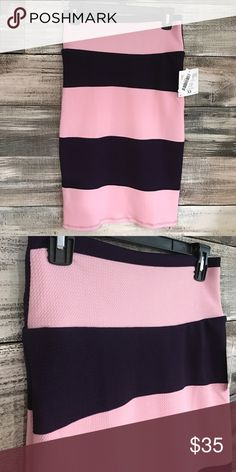 NWT LuLaRoe Striped Cassie Pencil Skirt NWT LuLaRoe Striped Cassie Pencil Skirt. Colors are light pink and dark purple. Soft and stretchy fabric with texture to it. LuLaRoe Skirts Pencil