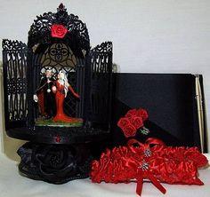 Gothic Vampire Wedding Cake Topper Lot Lighted Halloween | eBay
