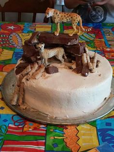 Boy cheetah cake