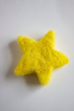 Yellow Star Needle Felted Bright Yellow Large Star by BBrustic