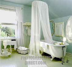 bathrooms with clawfoot tubs photos | Stock Photography image of Romantic Bathroom clawfoot tub with white ...