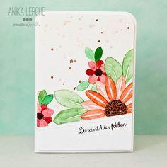 Create a smile Stamps: Botanical Love, Hey, Quatschkopf DT: Anika Lerche No Line Watercoloring, Masking