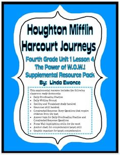 journeys fourth grade unit 2 lesson 9 dear mr winston. Black Bedroom Furniture Sets. Home Design Ideas