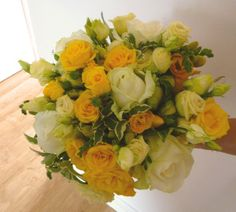 Yellow and white bouquet. Wedding Flowers, Wedding Day, Flower Arrangements, Awards, Floral Wreath, Bouquet, Wreaths, Weddings, Yellow